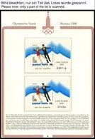 SPORT **,Brief , Olympische Spiele Moskau 1980 Im Borek Spezialalbum, Mit Kleinbogen, Markenheftchen Und Ungezähnten Blo - Stamps
