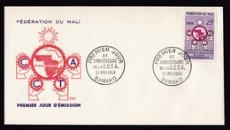 Mali: FDC First Day Cover, 1960, 1 Stamp, CCTA Regional Technical Cooperation, Map (traces Of Use) - Mali (1959-...)