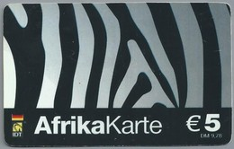 DE.- INTERNATIONAL PHONECARD. AFRICAKARTE.  € 5 / DM 9.78. IDT. 2 Scans. - GSM, Voorafbetaald & Herlaadbare Kaarten
