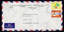 Mali: Airmail Cover To Netherlands, 1989, 2 Stamps, Forest, Environment, Law Institute, Rare Real Use (roughly Opened) - Mali (1959-...)