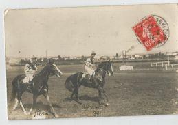 Hippisme - Hippodrome De Vichy 1926 Jockey Nommé Carte Photo - Horse Show