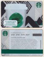 Starbucks - USA - 2013 - CN 6101 Tribute - Gift Cards