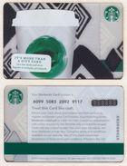 Starbucks - USA - 2013 - CN 6099 Tribute - Gift Cards
