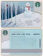 Starbucks - USA - 2013 - CN 6100 Snowman - Gift Cards