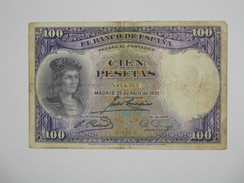 ESPAGNE  100 Pesetas - Cien Pestas  25-04-1931  **** EN ACHAT IMMEDIAT **** - [ 1] …-1931 : First Banknotes (Banco De España)