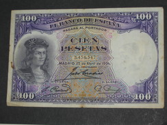 ESPAGNE  100 Pesetas - Cien Pestas  25-04-1931-El Banco De Espana  **** EN ACHAT IMMEDIAT **** - [ 2] 1931-1936 : Republiek