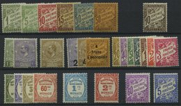 PORTOMARKEN P 1-28 *, 1904-43, Porto, 28 Werte Ungebraucht Komplett (Nr. 21-23 Gestempelt), Falzrest, Pracht - Portomarken