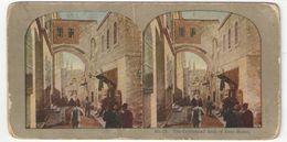 """Vue Stéréoscopique /Palestine/JERUSALEM/""""The Celebrated Arch Of Ecce Homo""""/L'Arche /Vers 1870-1890        STE86 - Fotos Estereoscópicas"""