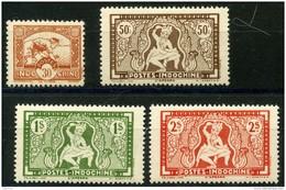 Indochine (1943) N 232 à 235 * (charniere) - Neufs