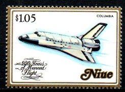NIUE. N°402 De 1983. Navette Colombia. - Space
