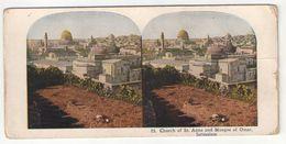 "Vue Stéréoscopique /Palestine/JERUSALEM/""Church Of St Anne And Mosque Of Omar""/Vers 1870-1890        STE88 - Stereoscoop"