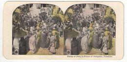 "Vue Stéréoscopique /Palestine/JERUSALEM/""Group Of Jews, In Streets Of Jerusalem""/Vers 1870-1890        STE89 - Stereo-Photographie"