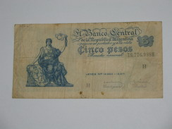 5 Cinco Pesos 1951-1959 ? - ARGENTINE   **** EN  ACHAT IMMEDIAT  **** - Argentinië