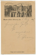 Bastei ( Sachs. Schweiz ) P. Used 1887 Edit R. Leukroth Entier Postal Postal Stationery - Bastei (sächs. Schweiz)