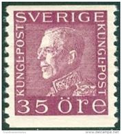 ZWEDEN 1921-36 35öre Guataf Violet Tweerzijdig Wit Papier PF-MNH-NEUF - Neufs