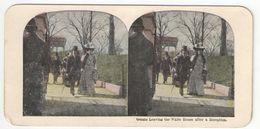 Vue Stéréoscopique /U.S.A./WASHINGTON DC/ Guests Leaving The White  House After A Reception /Vers 1870-1890   STE93 - Stereo-Photographie