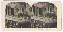 Vue Stéréoscopique /U.S.A./WASHINGTON DC/ State Dining Room White  House /Vers 1870-1890   STE94 - Stereo-Photographie