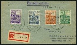 WEST-SACHSEN 162-65B BRIEF, 1946, Leipziger Messe (Mi.Nr. 162-64BY, 165BXb) Auf überfrankiertem Satz-Einschreibbrief, Pr - Soviet Zone