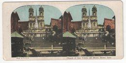 "Vue Stéréoscopique /ITALIE/Rome/ ""Church Of San Trinita Del Monti ""/Vers 1880-1890   STE96 - Stereo-Photographie"