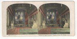 "Vue Stéréoscopique /ITALIE/Rome/ ""Church Of San Lorenzo, Tomb Of Pius IX ""/Vers 1880-1890   STE97 - Stereo-Photographie"