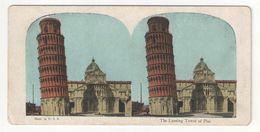 """Vue Stéréoscopique /ITALIE/PISE/ """"The Leaning Tower Of Pisa """"/La Tour Penchée De Pise/Vers 1880-1890   STE100 - Stereo-Photographie"""