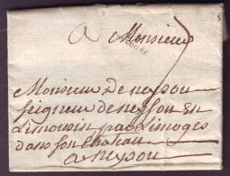 HAUTE GARONNE - LAC - Capelle - DE TOULOUSE (19x5) L52 (1787) + Taxe 7 Pour Neysou (81) - Postmark Collection (Covers)