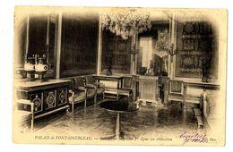 CPA 77 Seine Et Marne Fontainebleau Château Cabinet Ou Napoléon 1er Signa Son Abdication - Fontainebleau