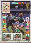 Bolivia 1990 MNH** World Cup Football'90 - Coppa Del Mondo Calcio SHEET Flowers Flags MNH - Copa Mundial