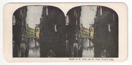 "Vue Stéréoscopique /ITALIE/VENISE/ ""Canal Of St John And St Paul, Venice, Italy  ""//Vers 1880-1890   STE102 - Stereo-Photographie"