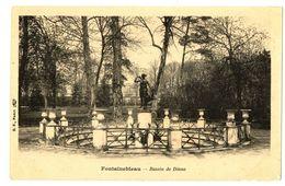 CPA 77 Seine Et Marne Fontainebleau Château Bassin De Diane - Fontainebleau