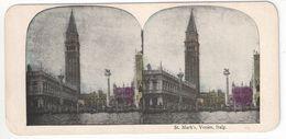 """Vue Stéréoscopique /ITALIE/VENISE/ """"St Mark's, Venice, Italy  """"/Place Saint Marc /Vers 1880-1890   STE103 - Stereo-Photographie"""