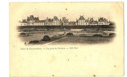 CPA 77 Seine Et Marne Fontainebleau Château Vue Prise Du Parterre - Fontainebleau