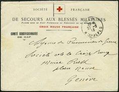 FRANKREICH FELDPOST 1915, Brief Von Crois Rouge Française, Von Der Argentur Blessés, An Das Internationale Rote Kreuz In - Poststempel (Briefe)