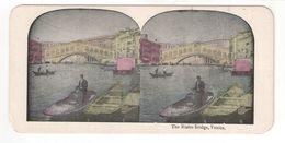 """Vue Stéréoscopique /ITALIE/VENISE/ """"The Rialto Bridge , Venice """"/Pont Rialto  /Vers 1880-1890   STE104 - Stereo-Photographie"""
