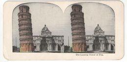 """Vue Stéréoscopique /ITALIE/Pise/ """"The Leaning Tower Of Pisa """"/La Tour Penchée De Pise   /Vers 1880-1890   STE105 - Stereo-Photographie"""