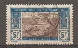 COTE IVOIRE - Yv. N°  57  (o)  5f  Lagune  Cote 5,8 Euro BE 2 Scans - Ivory Coast (1892-1944)
