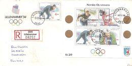 1994 Jeux Olympiques De Lillehammer:émission De La Première Série Des Champions Olympiques Norvégiens. - Winter 1994: Lillehammer
