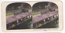 """Vue Stéréo/FRANCE/Marseille/""""Women Washing Sailors Clothes""""/Femmes Lavant Les Vêtements Des Marins/Vers 1880-1890 STE106 - Stereo-Photographie"""