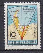 Argentina 1966 Operation Polo Sur / Antarctica / Map 1v ** Mnh (37172A) - Argentinië