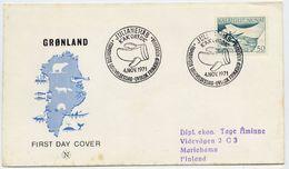 GREENLAND 1971 Postal Transport 50 Øre On FDC.  Michel 79 - FDC