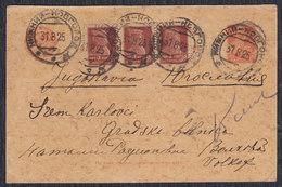 Russia USSR 1925 Postal Stationery Sent From Nizhny Novgorod To Sremski Karlovci (YU) - Storia Postale