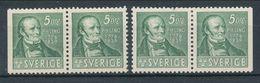 Sweden 1939 Facit # 318 BC + CB Pairs, Per Henrik Ling, MH (*) - Nuovi