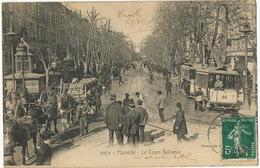 Marseille Le Cours Belsunce  Attelage Chevaux Beau Plan Agent Police Tramway - Autres