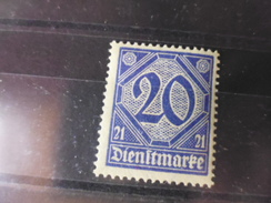 ALLEMAGNE   SERVICE  YVERT N°12** - Oficial