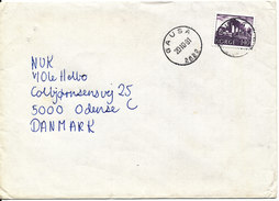 Norway Cover Sent To Denmark Gausa 20-10-1981 Single Franked - Norway