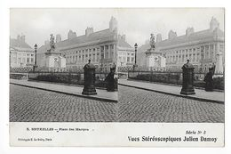 BRUXELLES - Place Des Martyrs - Vues Stéréoscopiques Julien Damoy -   - L 1 - Squares