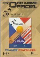 PROGRAMME OFFICIEL - COUPE DAVIS 2012 - FRANCE / ETATS UNIS - F. F. T. - Programme