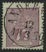 SCHWEDEN 15a O, 1866, 17 Ö. Rotlila, K1 ANDERSLÖV, Pracht - Gebraucht