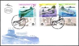 ISRAEL 2017 - Israeli Submarines - S Class; T Class & Gal Class - A Set Of Stamps With Tabs - FDC - Submarines