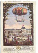 CPSM Le Vachez  Expérience Du 19 Septembre 1784  Vue Des Tuileries Prise De La Grande Allée Montgolfiere - Balloons
